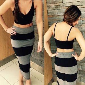 LULULEMON Yoga Over Skirt Stripe Coal / Black 4